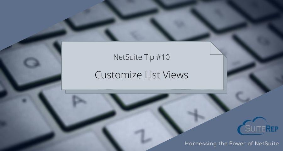 Customize List Views