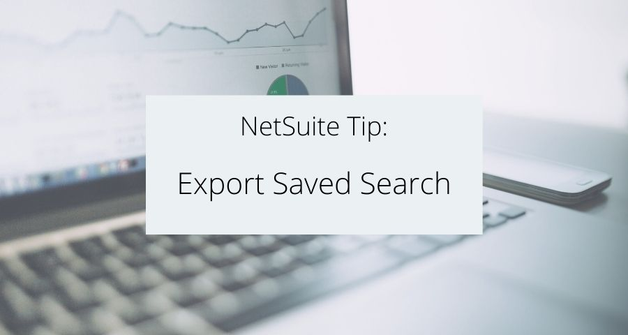 How to Export Saved Search