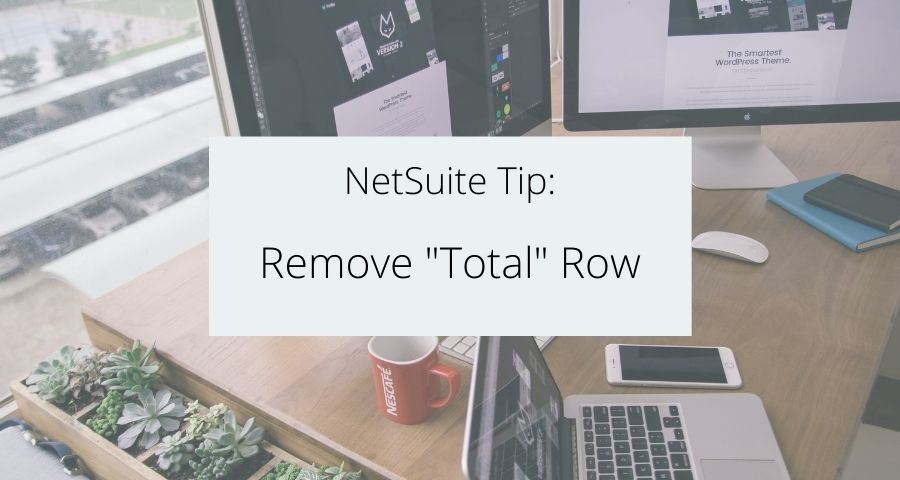 """Remove """"Total"""" Row from Summary Saved Search"""