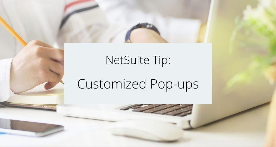 Customized Pop-ups