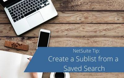Create a Sublist from a Saved Search