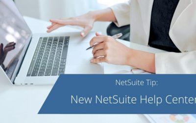 New NetSuite Help Center